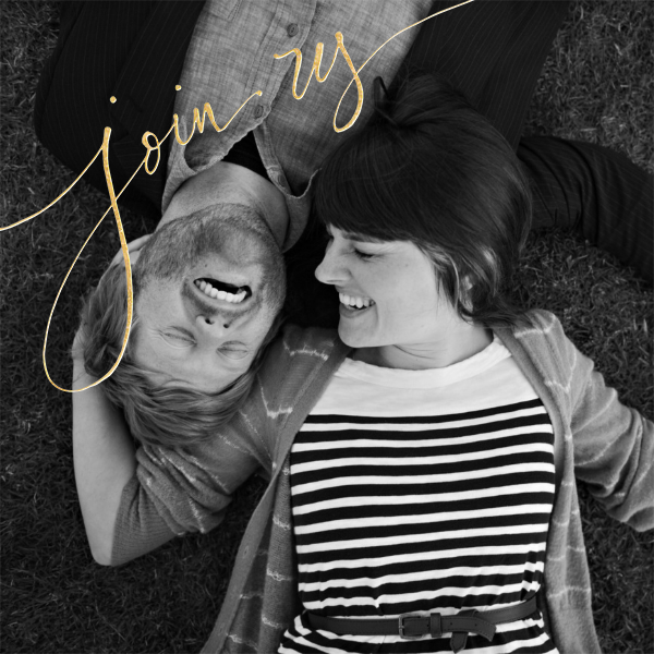 Join Us (Photo) - Gold - Linda and Harriett - Engagement party