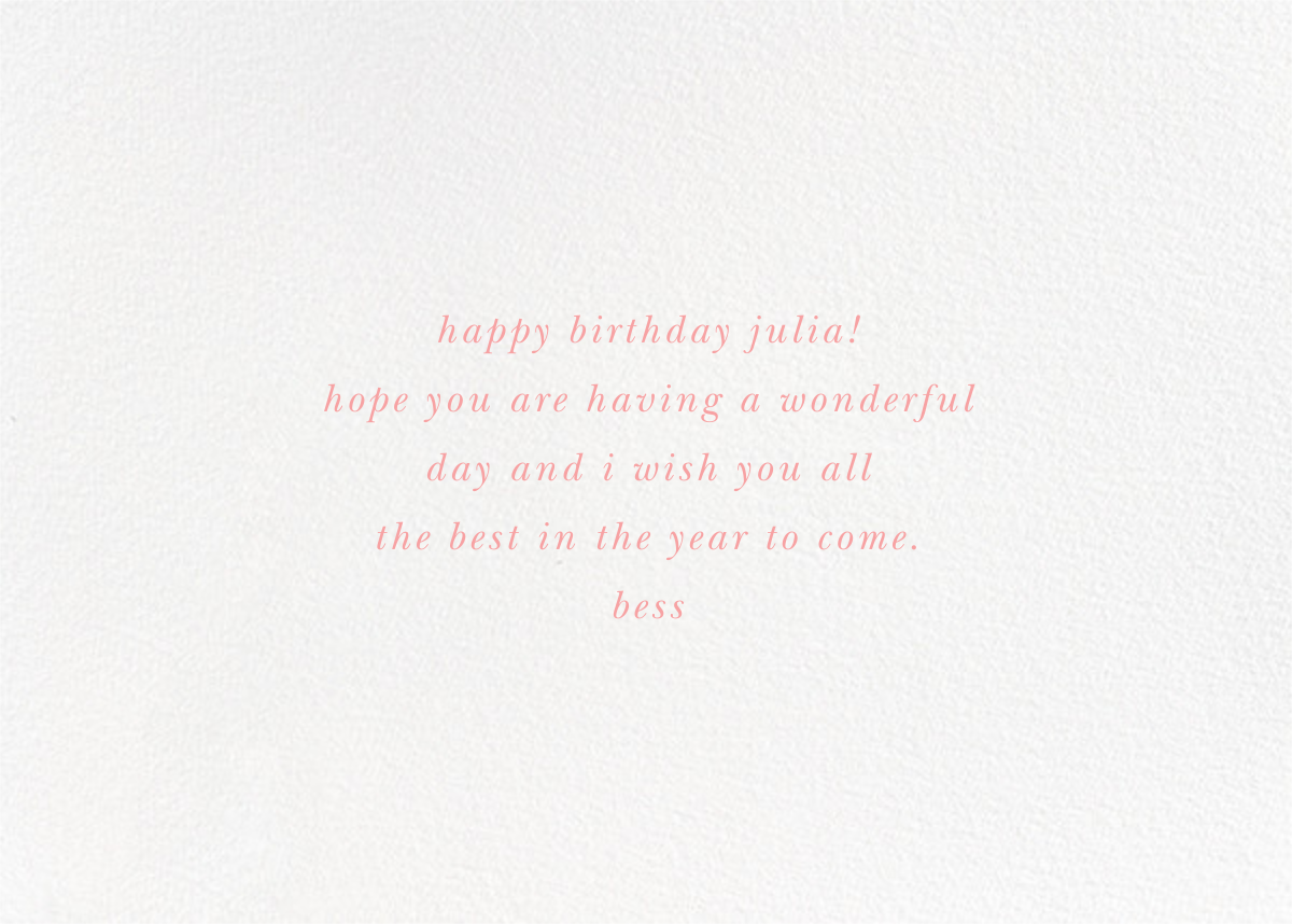 Vase to Vase (Greeting) - kate spade new york - Birthday - card back