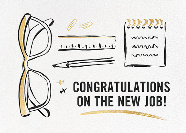 New Job - kate spade new york - Congratulations