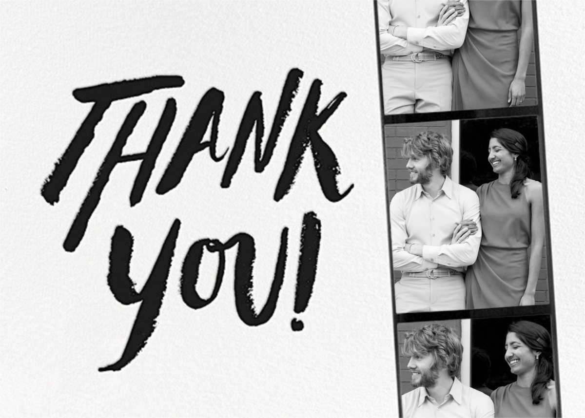 Photo Booth Thank You - Black - kate spade new york - General