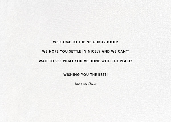 Welcome Mat (Greeting) - kate spade new york - Congratulations - card back