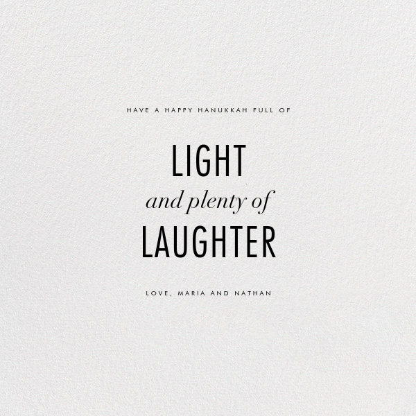 Lumina (Greeting) - Ivory/Gold - Kelly Wearstler - Hanukkah - card back