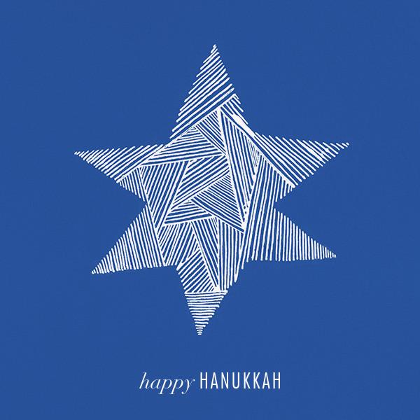 Lumina (Greeting) - Blue/Ivory - Kelly Wearstler - Hanukkah