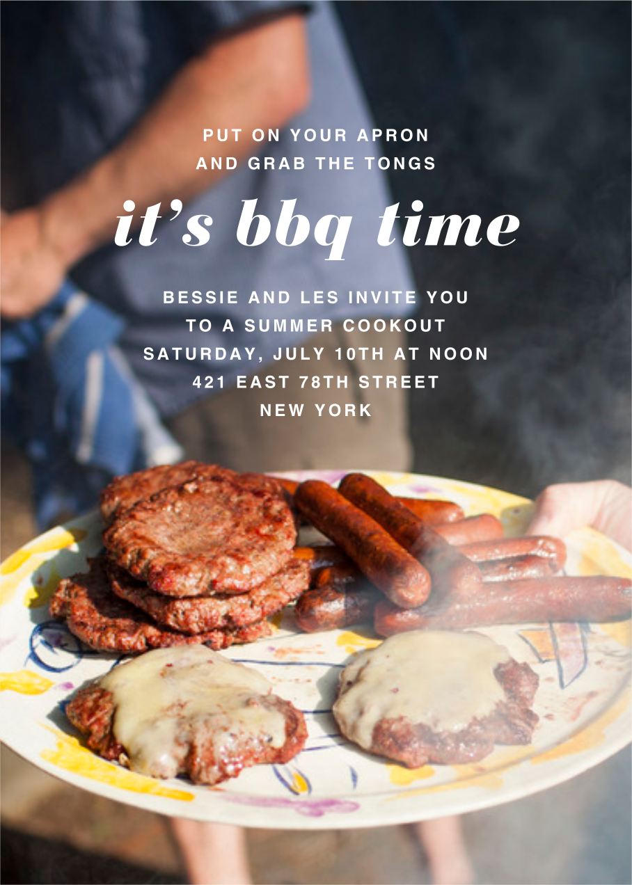 Full-Page Photo (Single-Sided) - Tall - Paperless Post - Barbecue