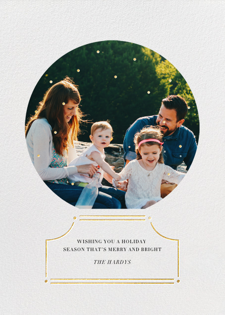 Encapsulated - Gold - Paperless Post - Holiday cards