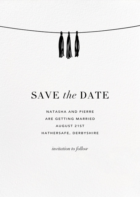 Tasseled II (Photo Save the Date) - Gold - Paperless Post - Back