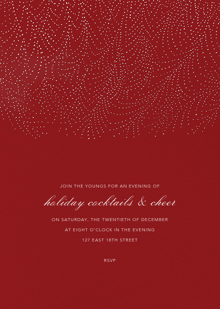 Underwood - Crimson/Silver - Paperless Post - Company holiday party