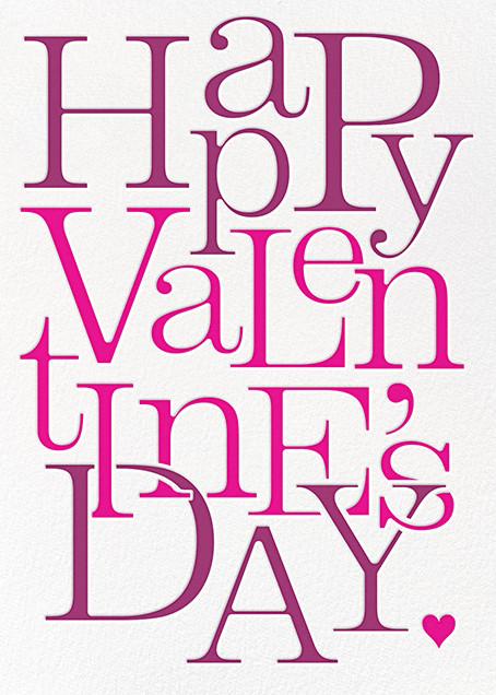 Valentine Jumble - Paperless Post - Valentine's Day