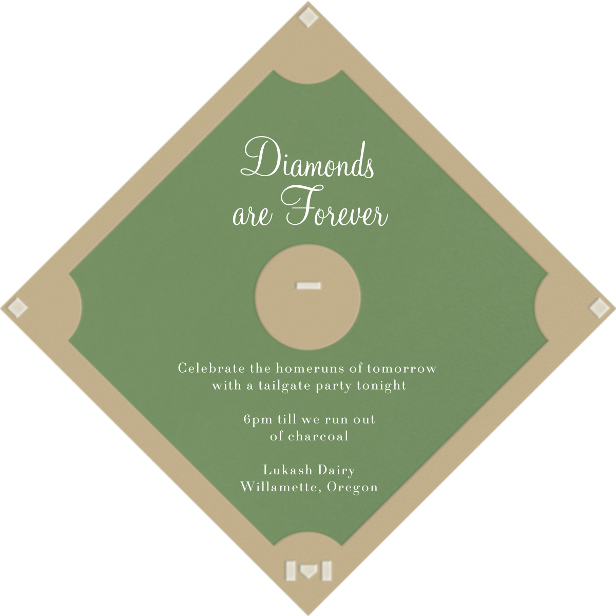 Baseball Diamond - Paperless Post - Kids' birthday