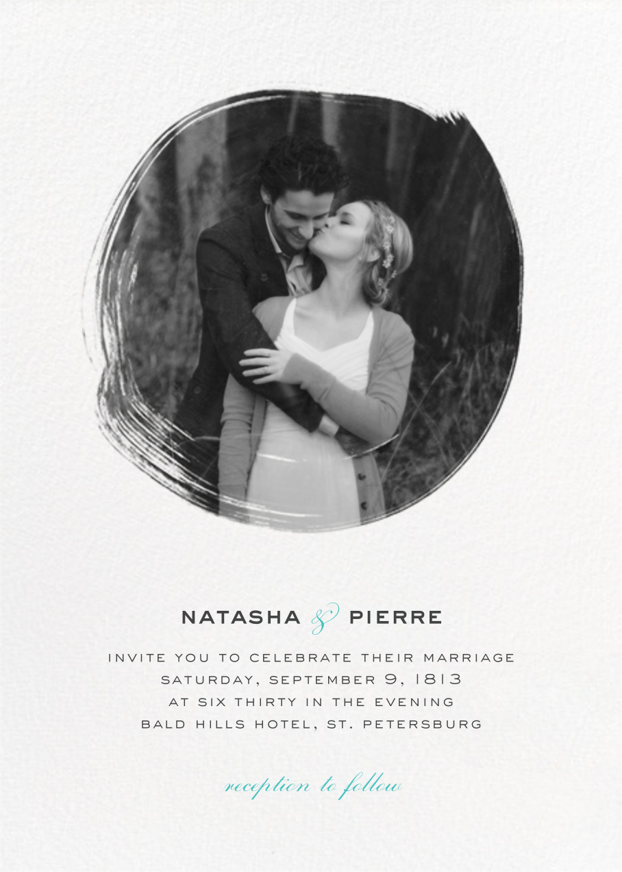 Painted Circle (Invitation) - White - Paperless Post - All