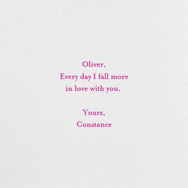 I Love You - Linda and Harriett - Valentine's Day - card back