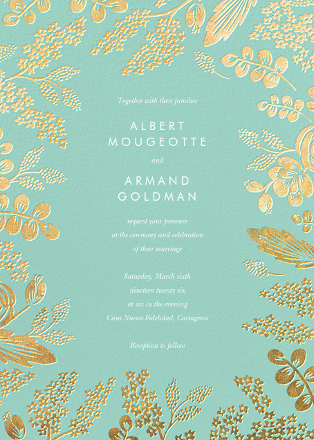 Heather and Lace (Invitation) - Celadon/Gold - Rifle Paper Co. - All