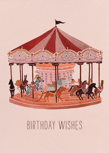 Carousel Wishes (Becca Stadtlander) - Red Cap Cards - Birthday