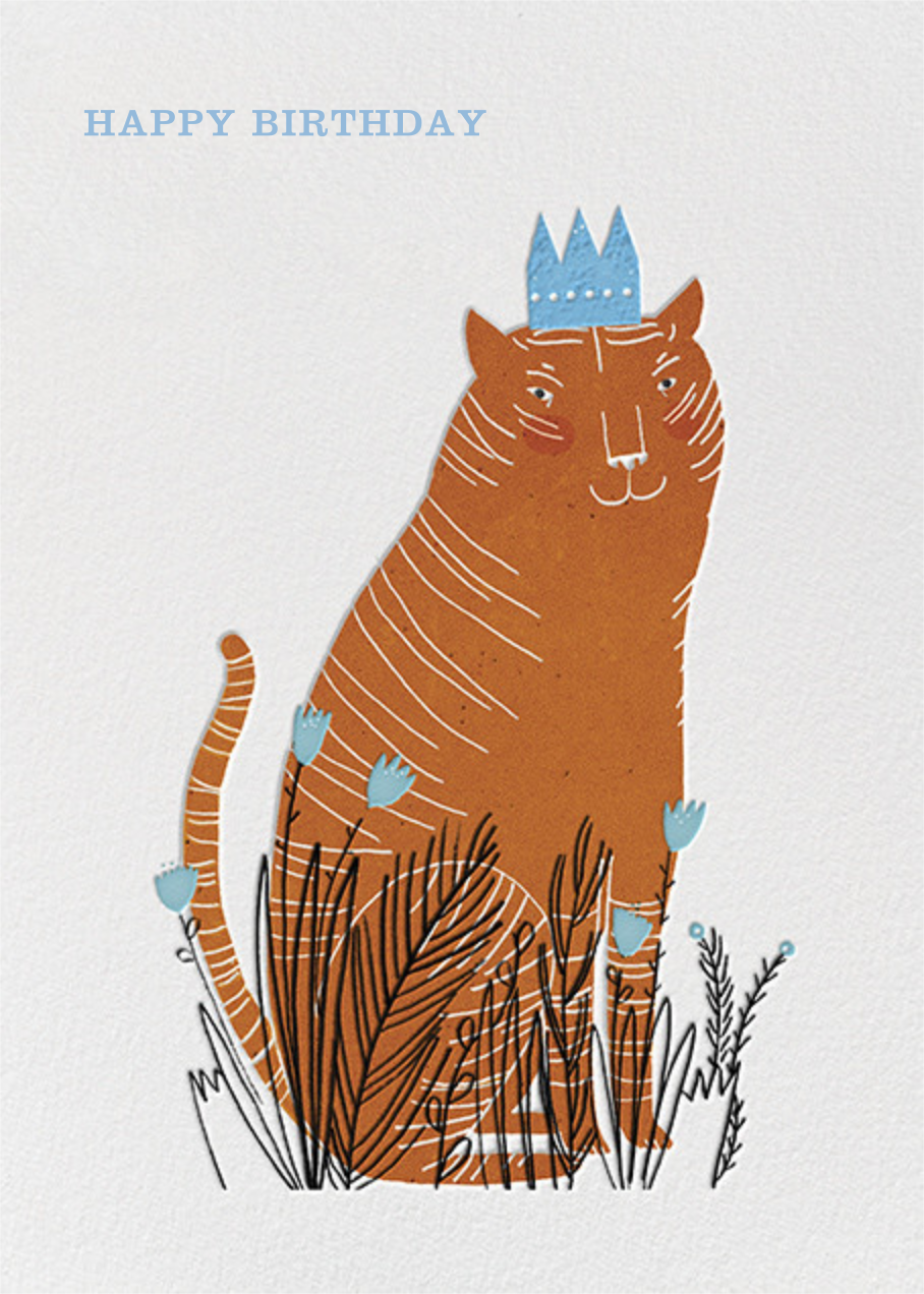 King Cat (Lizzy Stewart) - Red Cap Cards - Birthday