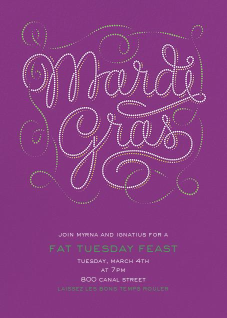 Bead It - Purple - Paperless Post - Mardi Gras