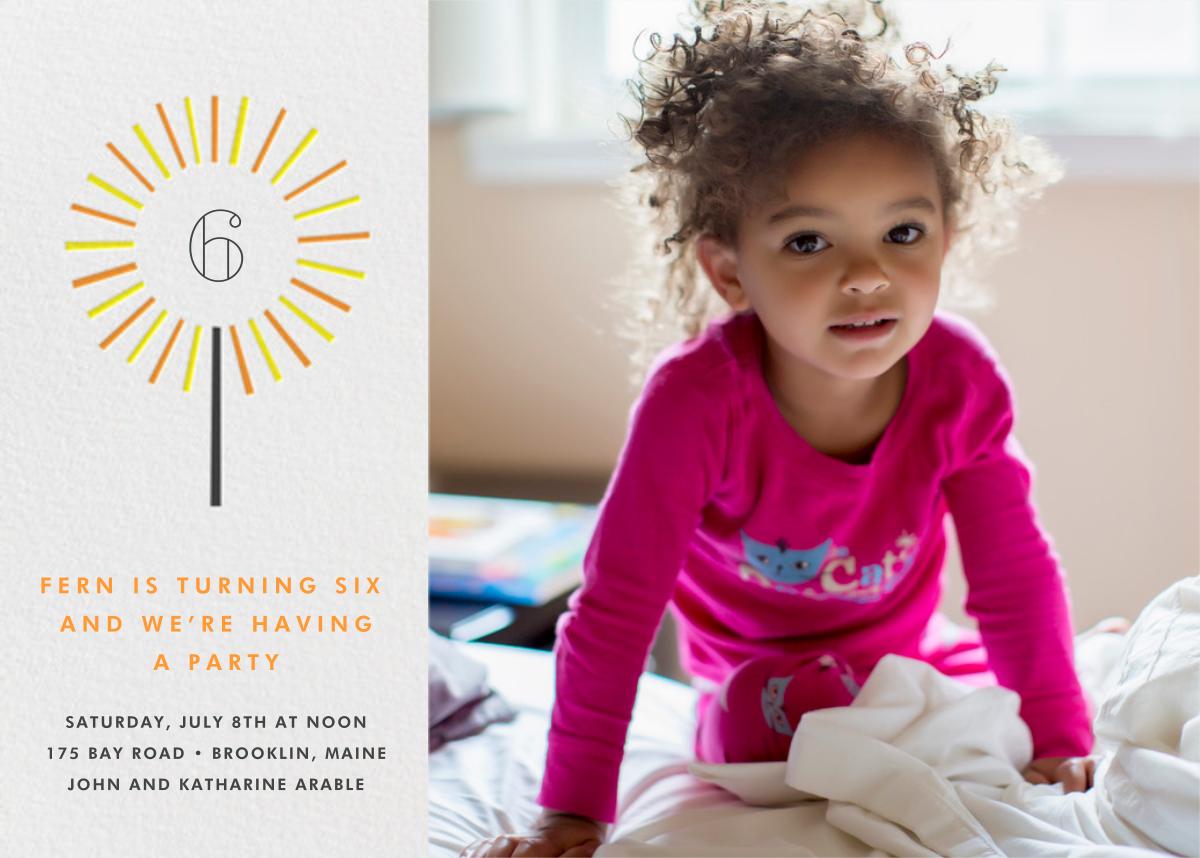 Year of the Sparkler (Photo) - Orange - Paperless Post - Kids' birthday