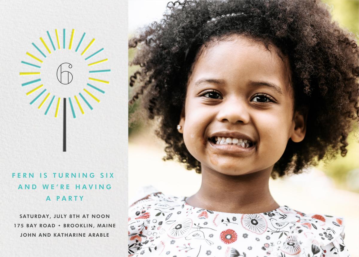 Year of the Sparkler (Photo) - Lagoon - Paperless Post - Kids' birthday
