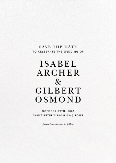 Konfetti (Tall Photo) - Gold - Kelly Wearstler - Save the date - card back