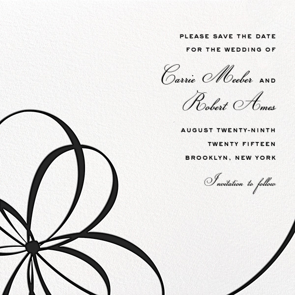 Belle Boulevard (Save the Date) - Black - kate spade new york - Save the date