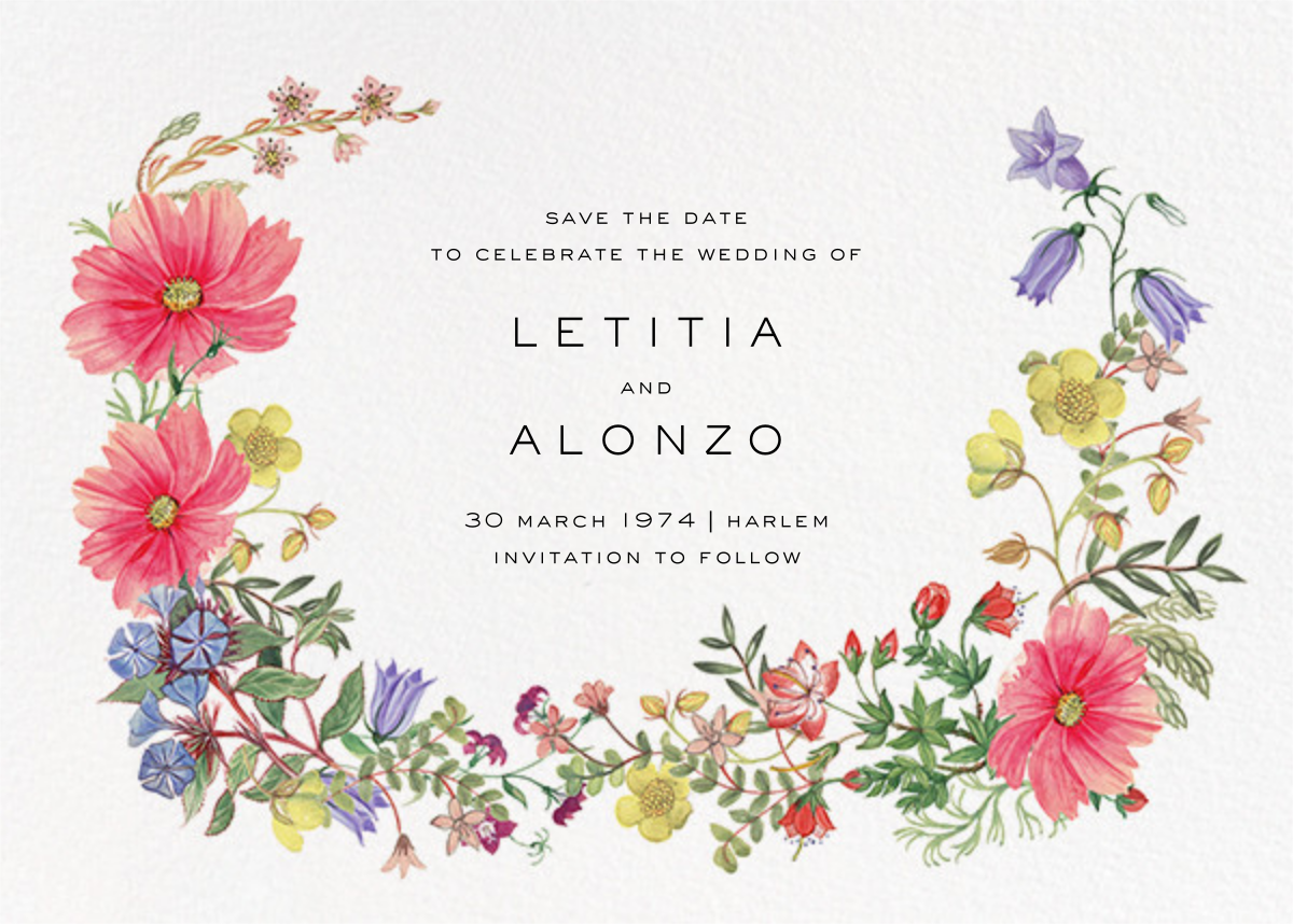 Archival Florals (Save the Date) - Liberty - Save the date