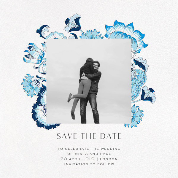 Lodden (Photo Save the Date) - Blue - Liberty - Photo