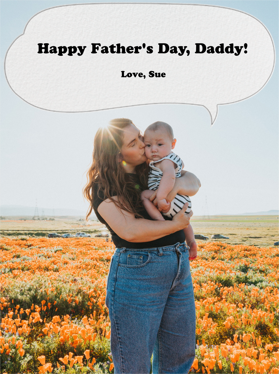 Speech Bubble - Paperless Post - Father's Day