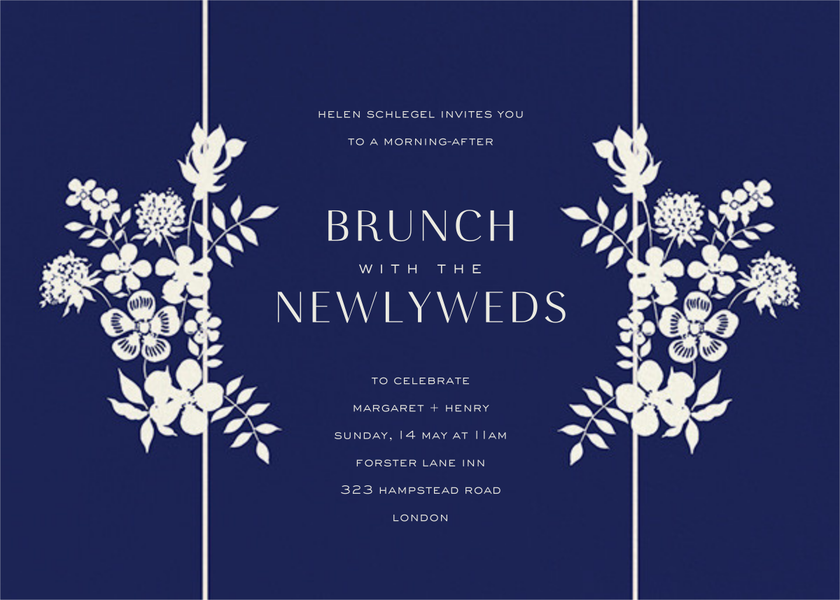 Edenham - Dark Blue - Liberty - Wedding brunch