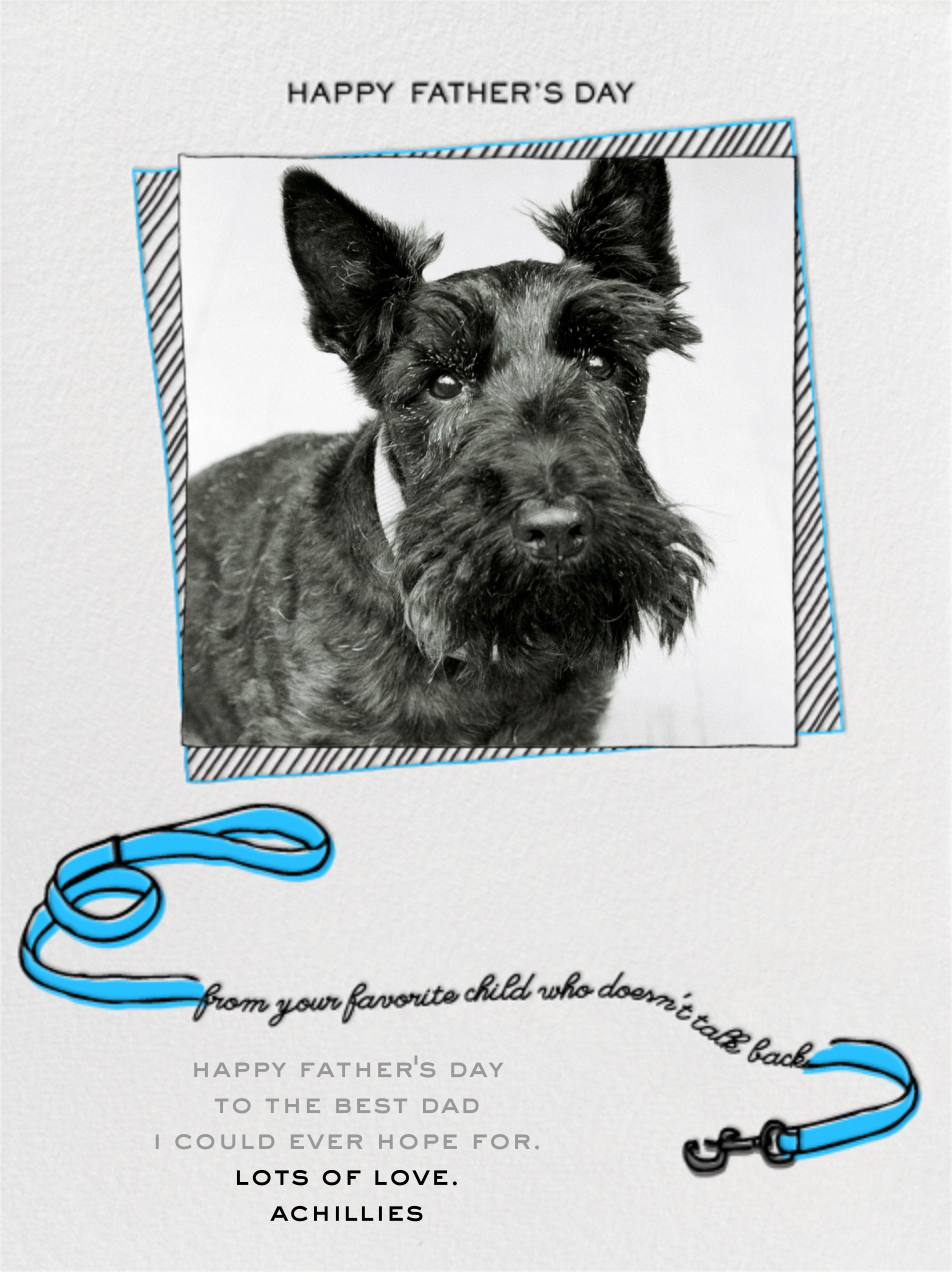 Father's Day Dog - Blue - Paperless Post