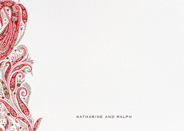 Felix and Isabelle (Stationery) - Red  - Liberty - Personalized stationery