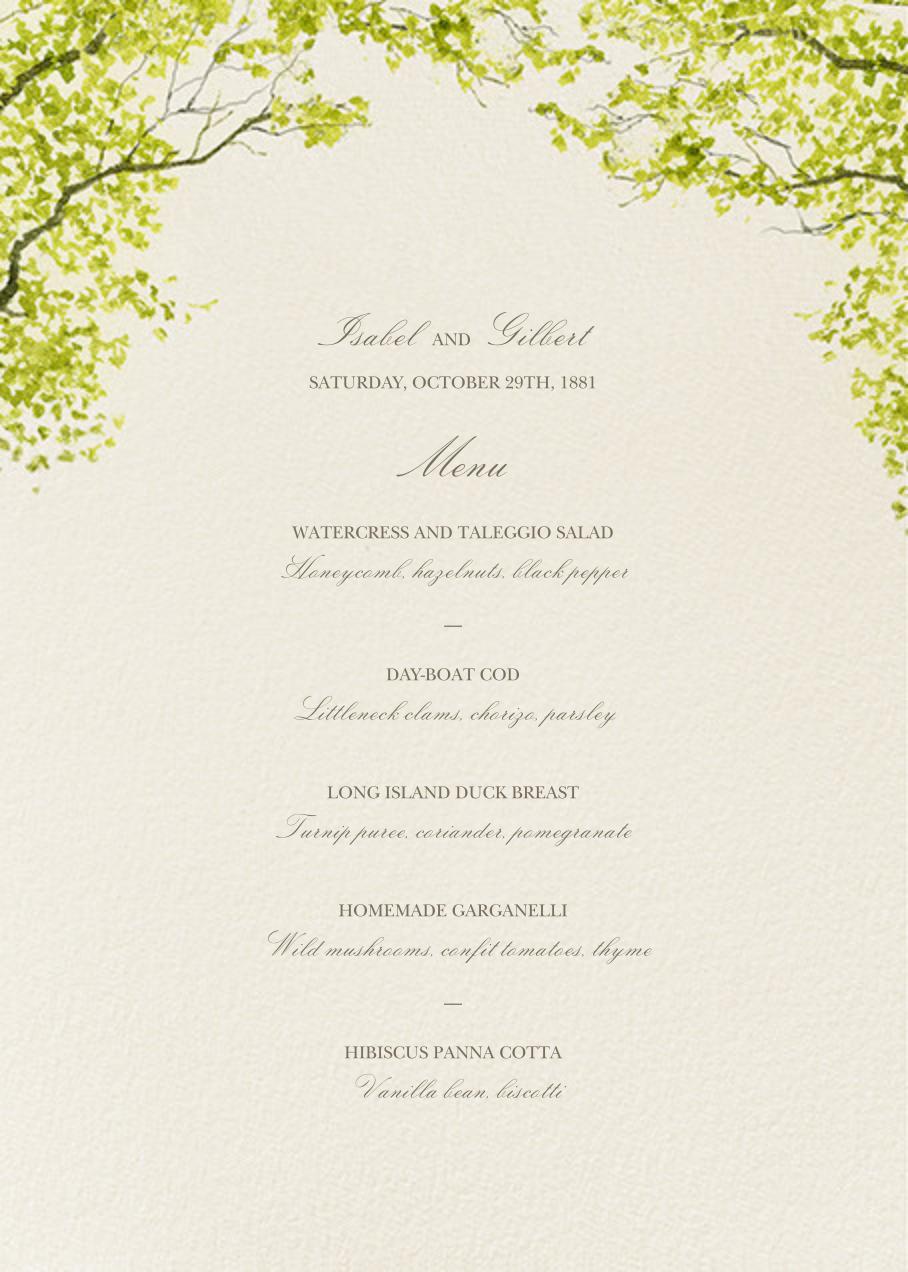 Spring Orchard (Menu) - Felix Doolittle - Menus and programs
