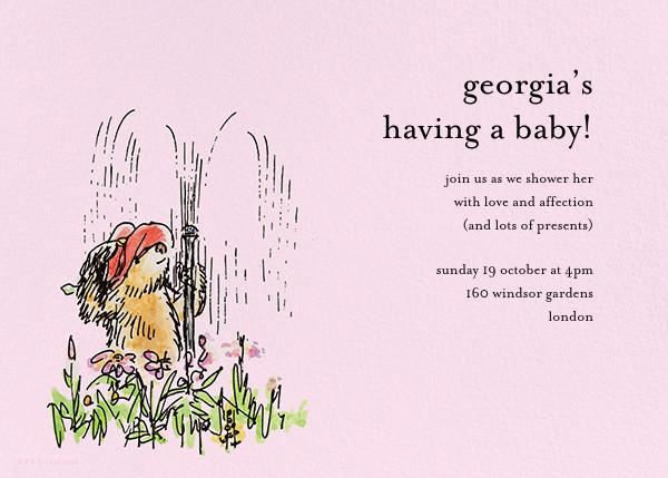 Garden Shower - Pink - Paddington Bear - Woodland baby shower