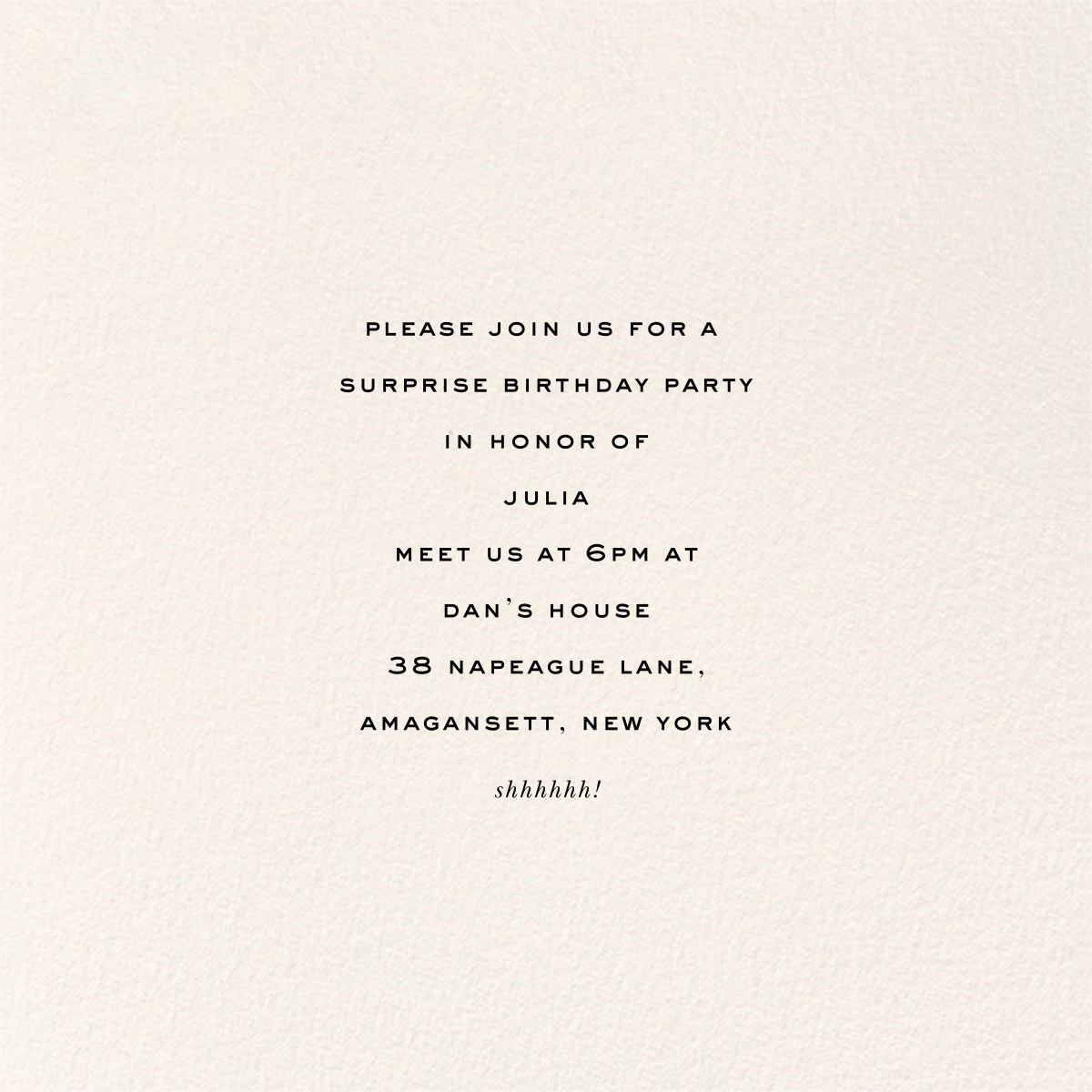 Balloon Birthday (Invitation) - kate spade new york - 50th birthday invitations - card back