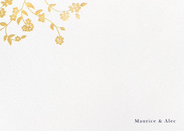 Floral Trellis II (Stationery) - Gold - Oscar de la Renta - Personalized stationery