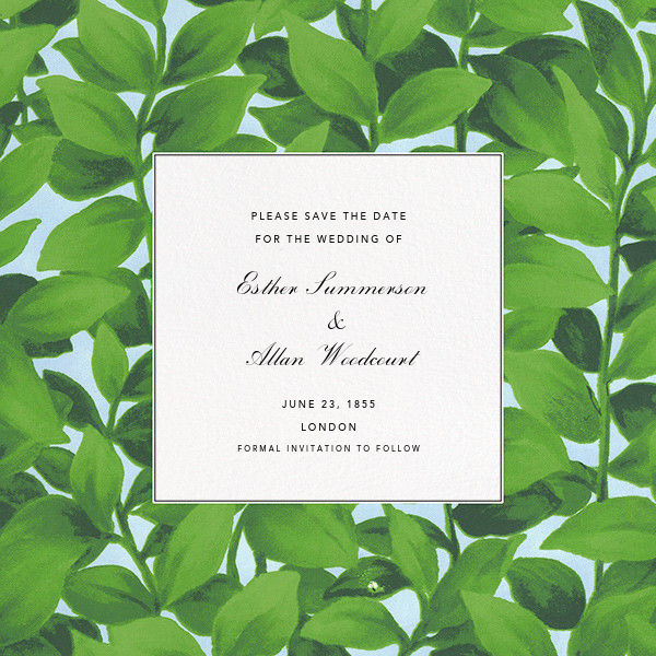 Hedge (Save the Date) - Oscar de la Renta - Save the date