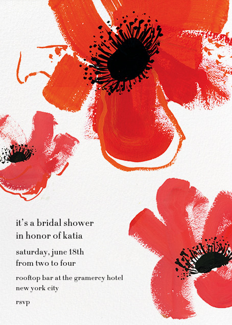 Poppies - Red - kate spade new york - Bridal shower