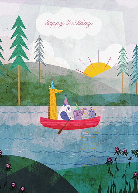 Four Canoe (Josie Portillo) - Red Cap Cards - Birthday