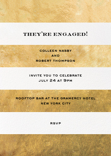 Evergreen Stripes - Gold/White - kate spade new york - Engagement party