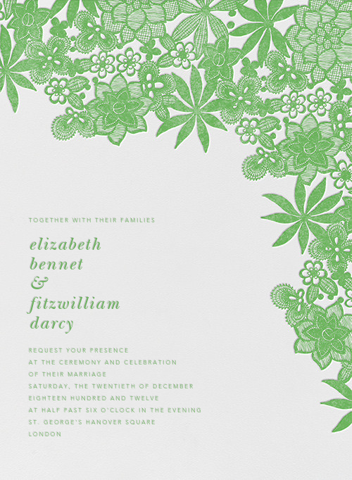 Floral Guipure - Spring Green - Oscar de la Renta - All