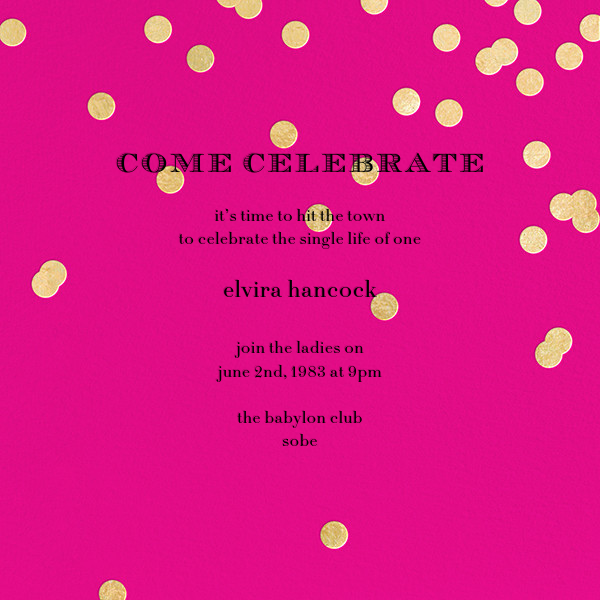 Come Celebrate - Bright Pink/Gold - kate spade new york - Bachelorette party