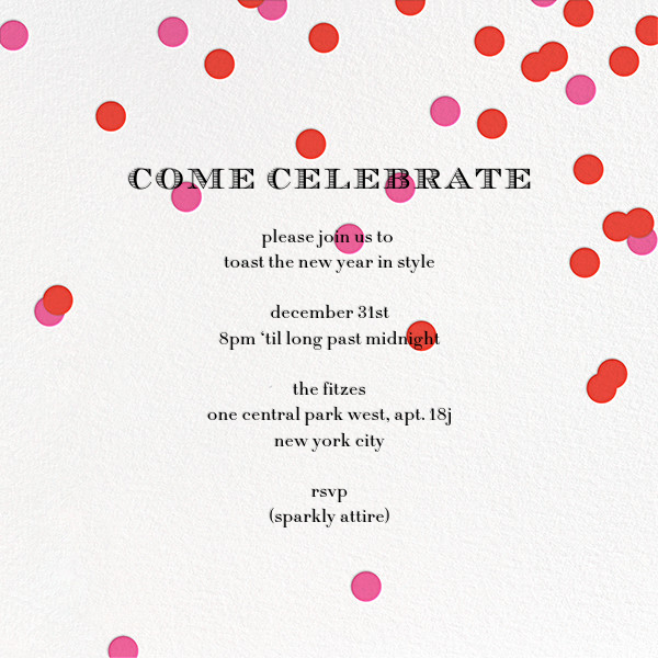 Come Celebrate - Ivory/Red - kate spade new york - Holiday party
