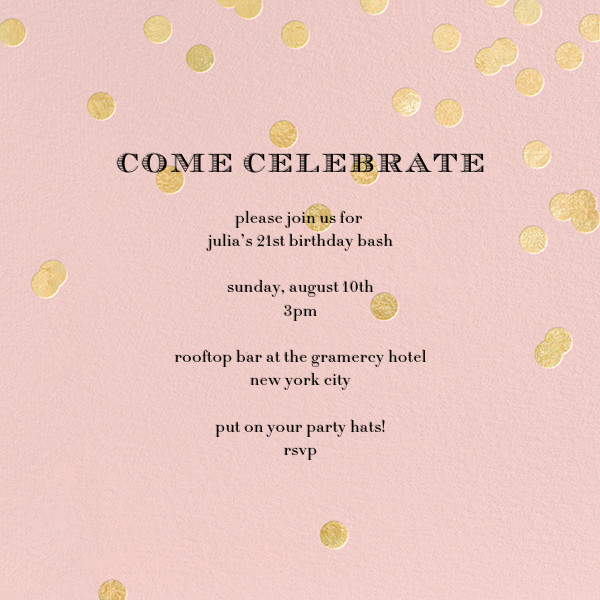 Come Celebrate - Rose/Gold - kate spade new york - Adult birthday