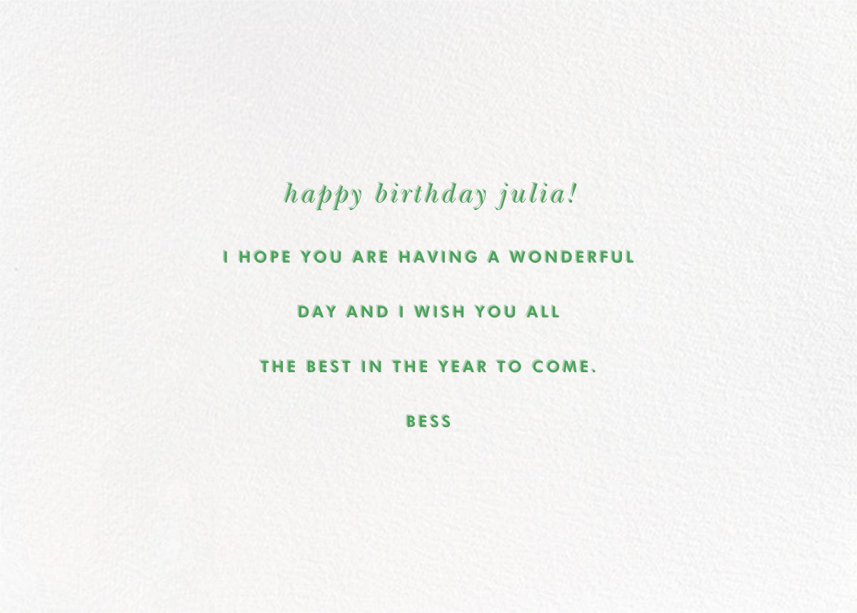 Happy Happier Happiest - kate spade new york - Birthday - card back