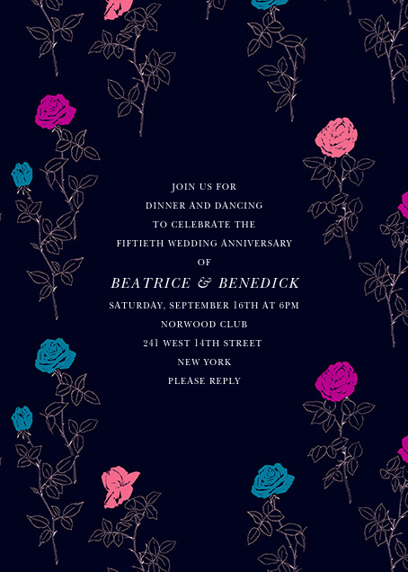 Evening Rose - Oscar de la Renta - Anniversary party