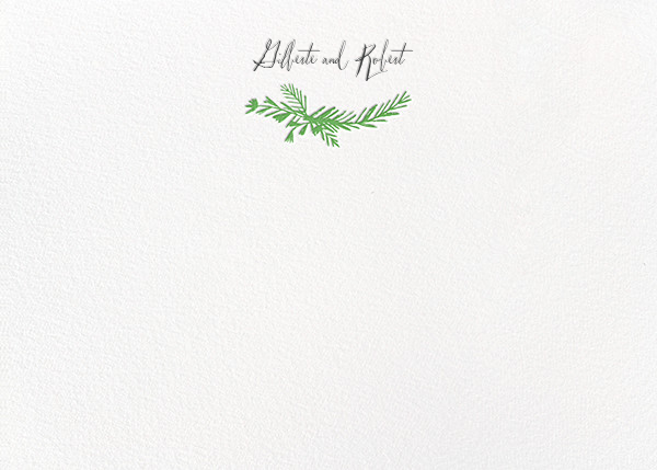 Miss Mimi Margeaux II (Stationery) - Green - Mr. Boddington's Studio - Personalized stationery