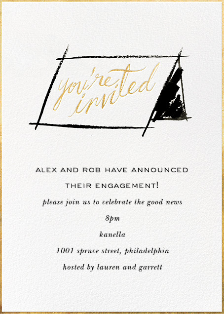 In Tent to Party - kate spade new york - Engagement party