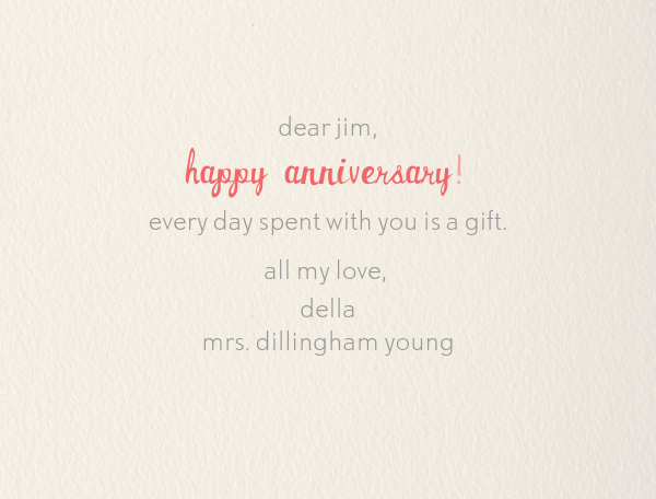 Je T'adore - Paperless Post - Anniversary cards - card back