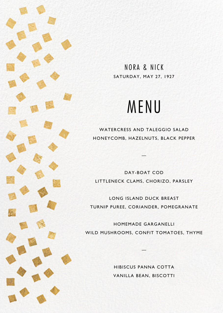 Fette (Menu) - Gold/White - Kelly Wearstler - Menus and programs
