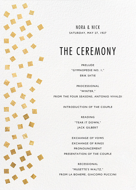 Fette (Program) - Gold/White - Kelly Wearstler - Menus and programs