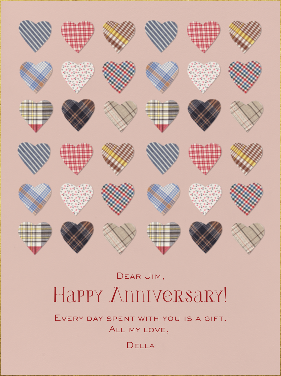Plaid Hearts - Paperless Post - Anniversary cards