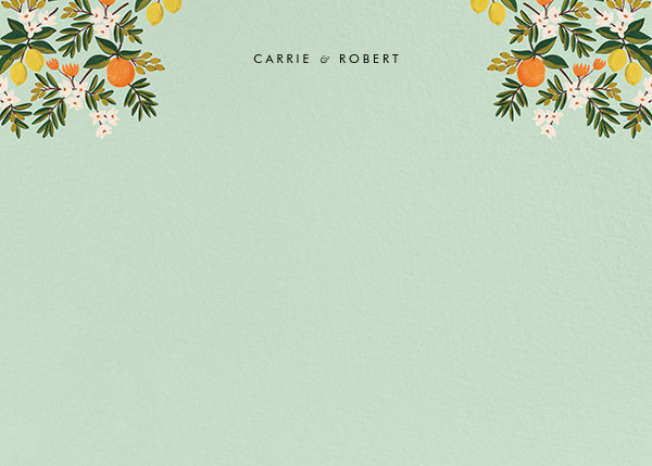 Citrus Orchard Suite (Stationery) - Mint - Rifle Paper Co. - Personalized stationery